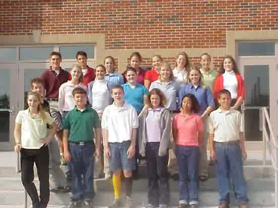 WCHS Physical Science Classs1 2001